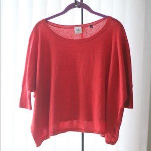 Cabi RED Cartwheel Dolman Sleeve Sweater #5279 S